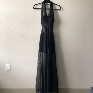 Caché/Tadashi Black Sheer Mesh Dress Sz XS